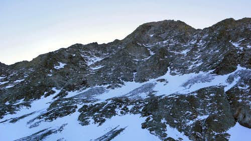 Little Bear\'s NW Face in Winter