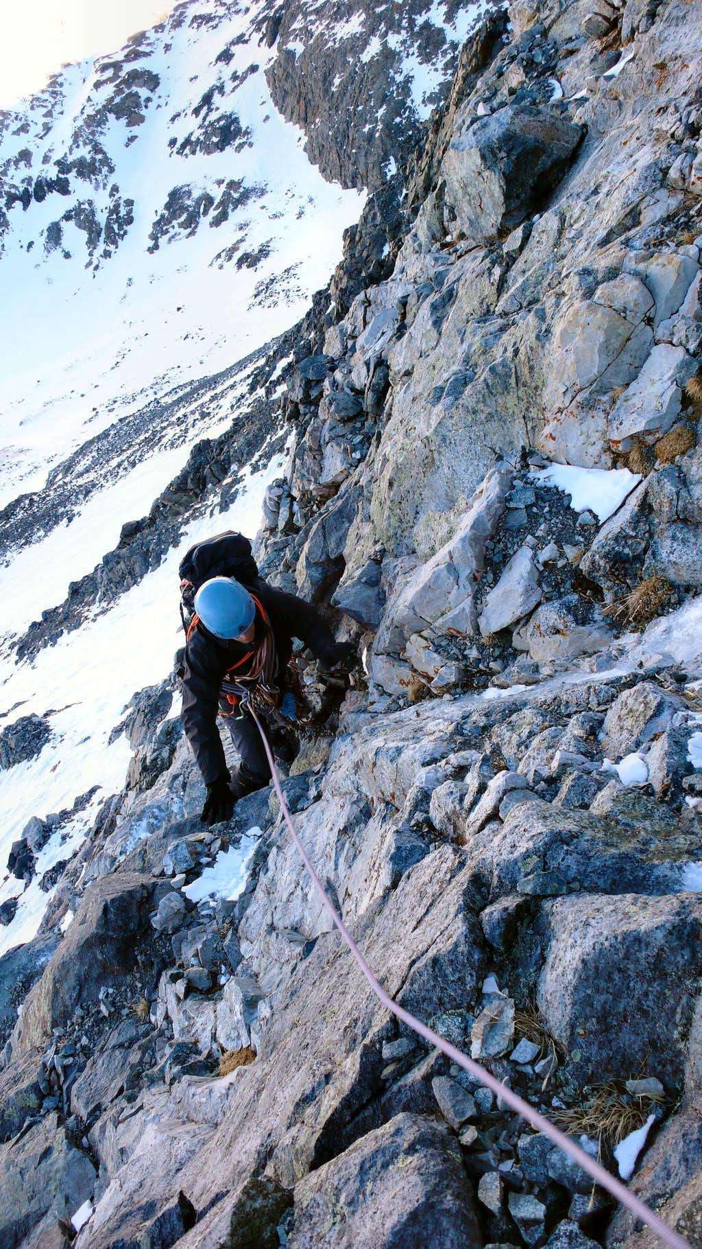 Low on Little Bear's NW Face