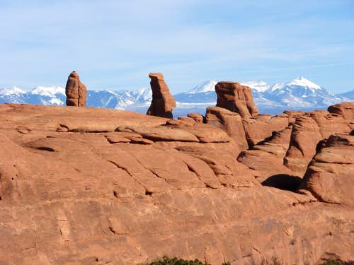 Klondike Bluffs and La Sal Mountains