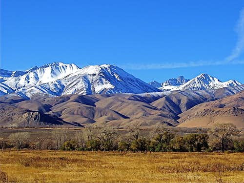 The Palisades seen from Owens Valley