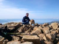 Grettle, the summit dog,...
