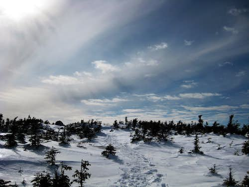 Approaching the South Kinsman summit - 3/1/2009