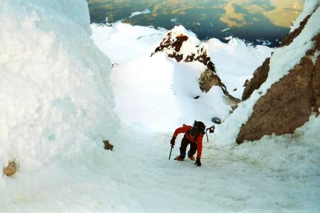 A climber below me in the...