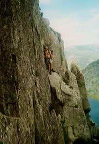 scrambling up the north ridge...