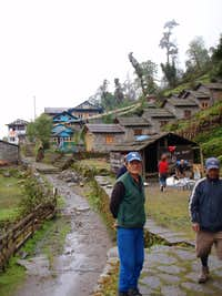 Wee village on the path to Mera Peak