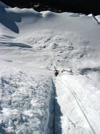 Top of Island Peak Icewall
