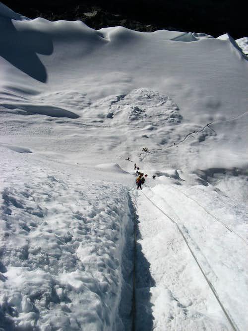 Top of Island Peak Icewall