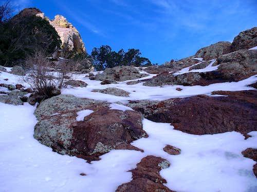 February Snow on Baboquivari
