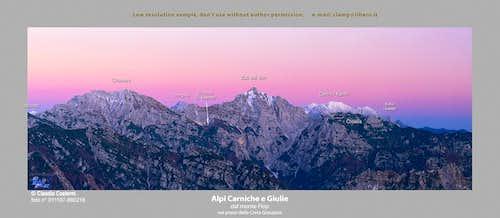 Alpi Giulie e Carniche dal Monte Flop