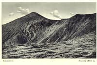 Vintage postcard of Hoverla