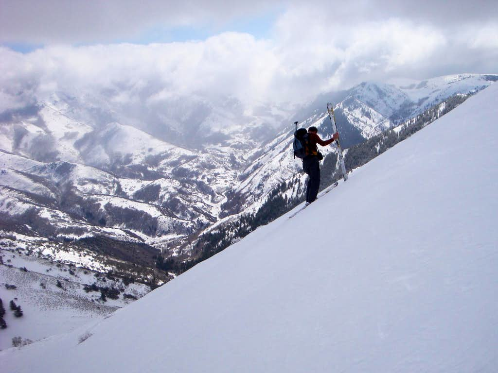 Approaching The South Peak Of Sharp Mountain