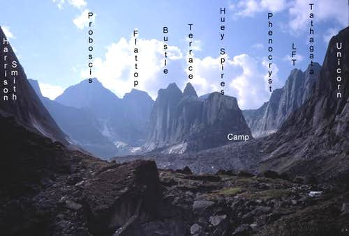 Overview of Cirque of the Unclimbables