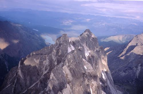 Aerial Views - Mount Harrison Smith & Glacier Lake