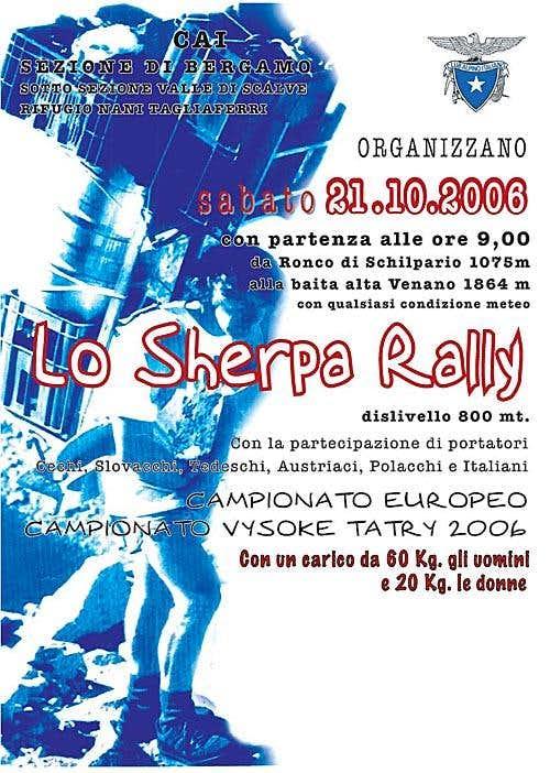 Šerpa rallye 2006 poster