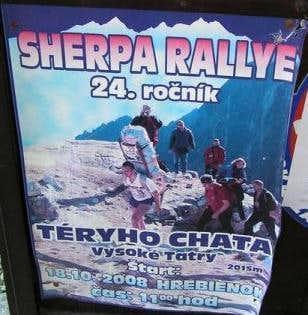 Šerpa rallye 2008 poster