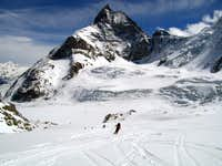 Skiing on the Tiefmatten Glacier