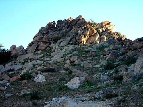Looking at the Blue Angel's Peak summit
