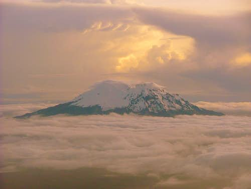 Antisana from Cotopaxi\'s summit.