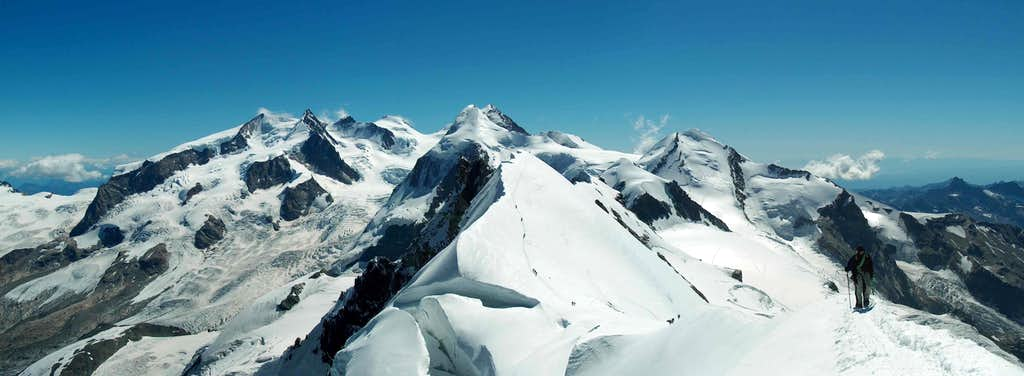 breithorn centrale and monterosa group