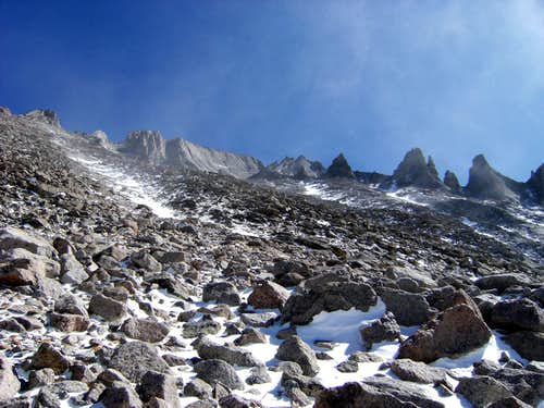 Western Face of Longs and Keyboard of the Winds
