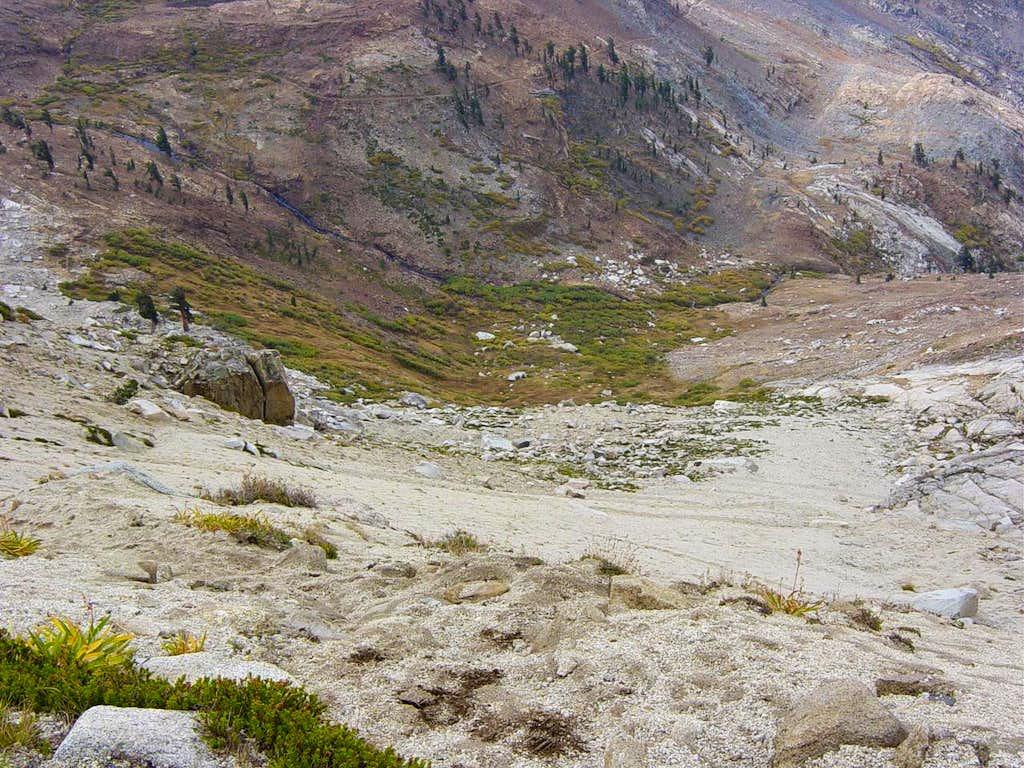 Scree field on Sawtooth