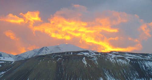 Sunset over Kennecott