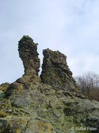 Volcanic rock towers in the side of Prédikálószék