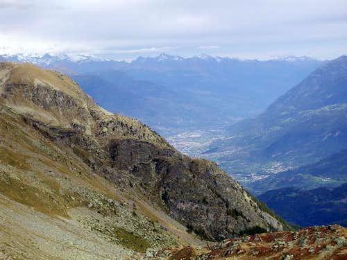 la città di Aosta vista...