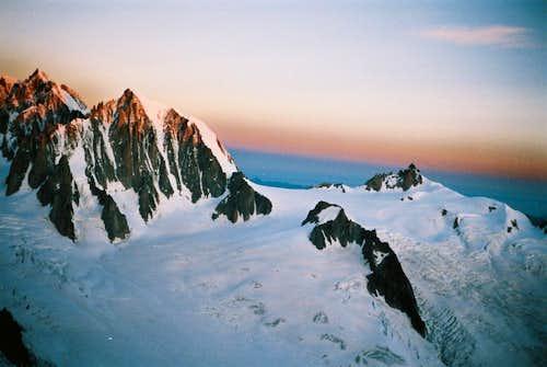 Mont Blanc du Tacul - Pointe Lachenal - Aiguille du Midi