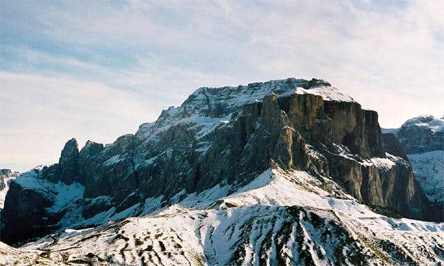 Piz Ciavazes, seen from the...