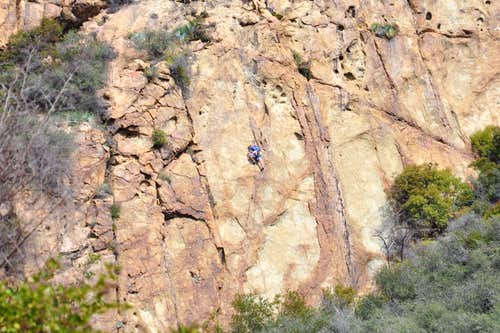 "Climber on ""Hazardous Waste, 10a"""
