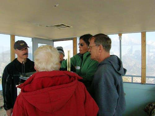 Inside the Morton Peak Fire Lookout