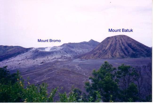 Mount Bromo and Mount Batuk