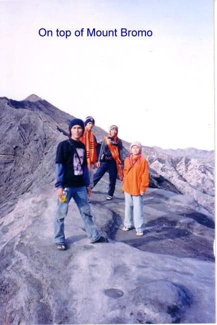 Top of Mt Bromo with my...