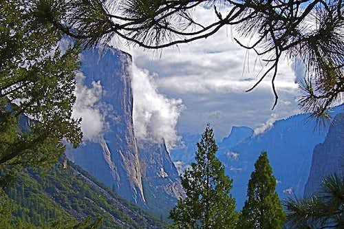 Clearing storm on Yosemite Valley
