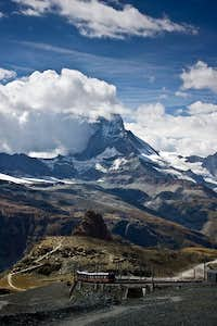 Matterhorn and the train to Gornergrat