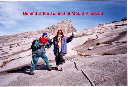 the peak of Mount Kinabalu