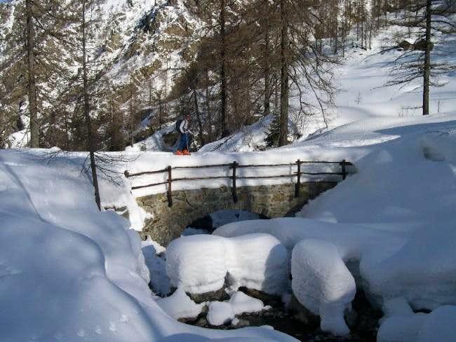 The small bridge that brings...