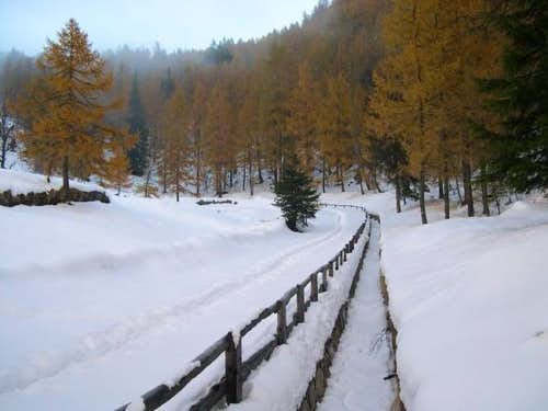 The first snow beyond the...
