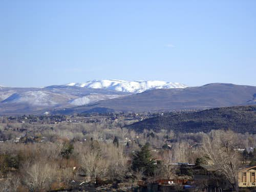 Scott Peak-McClellan Peak plateau from Reno