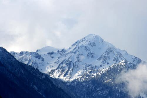 Mount Carrie from Elwha River Range