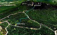 Sentinel Trail Map
