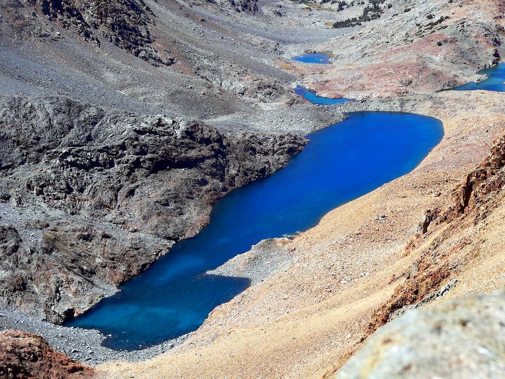 Dana Lake from the Dana Plateau summit