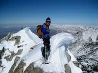 Lone Peak summit ridge on 2-21-09