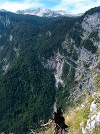 The Komarca cliffs over the Bohinj lake