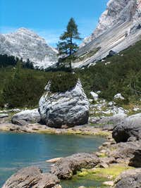 Dvojno Jezero (twin lakes) in Valley Dolina Sedmerih Jezer
