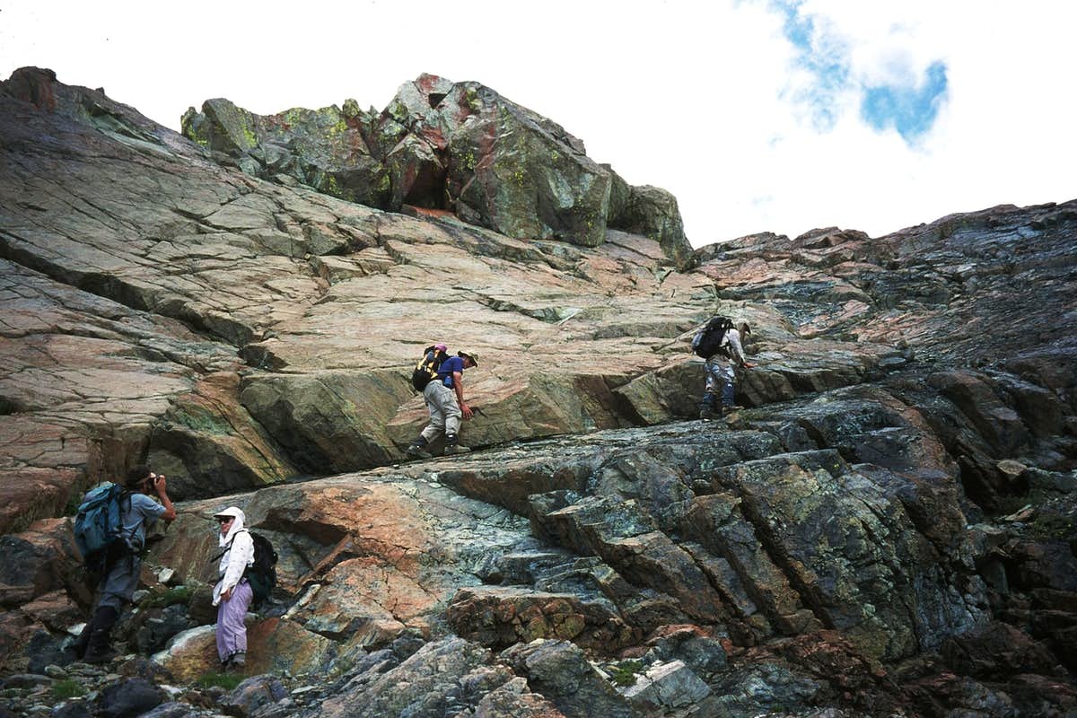 Climbing the West Face