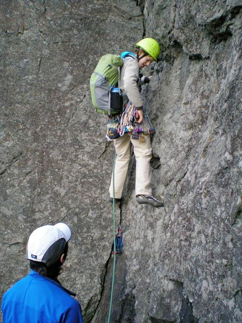 Ellen s first trad lead