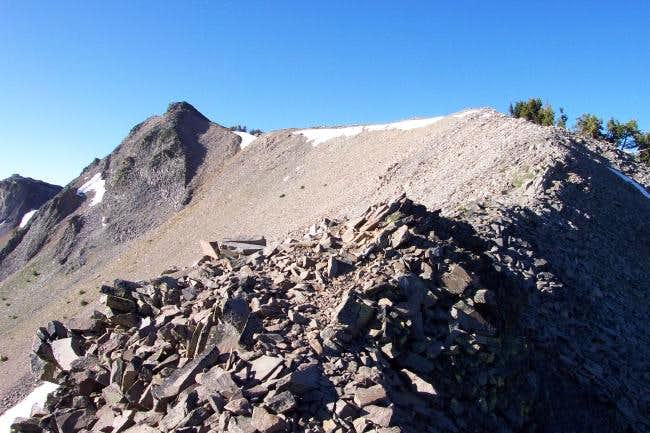 The summit ridge of Hiram Peak