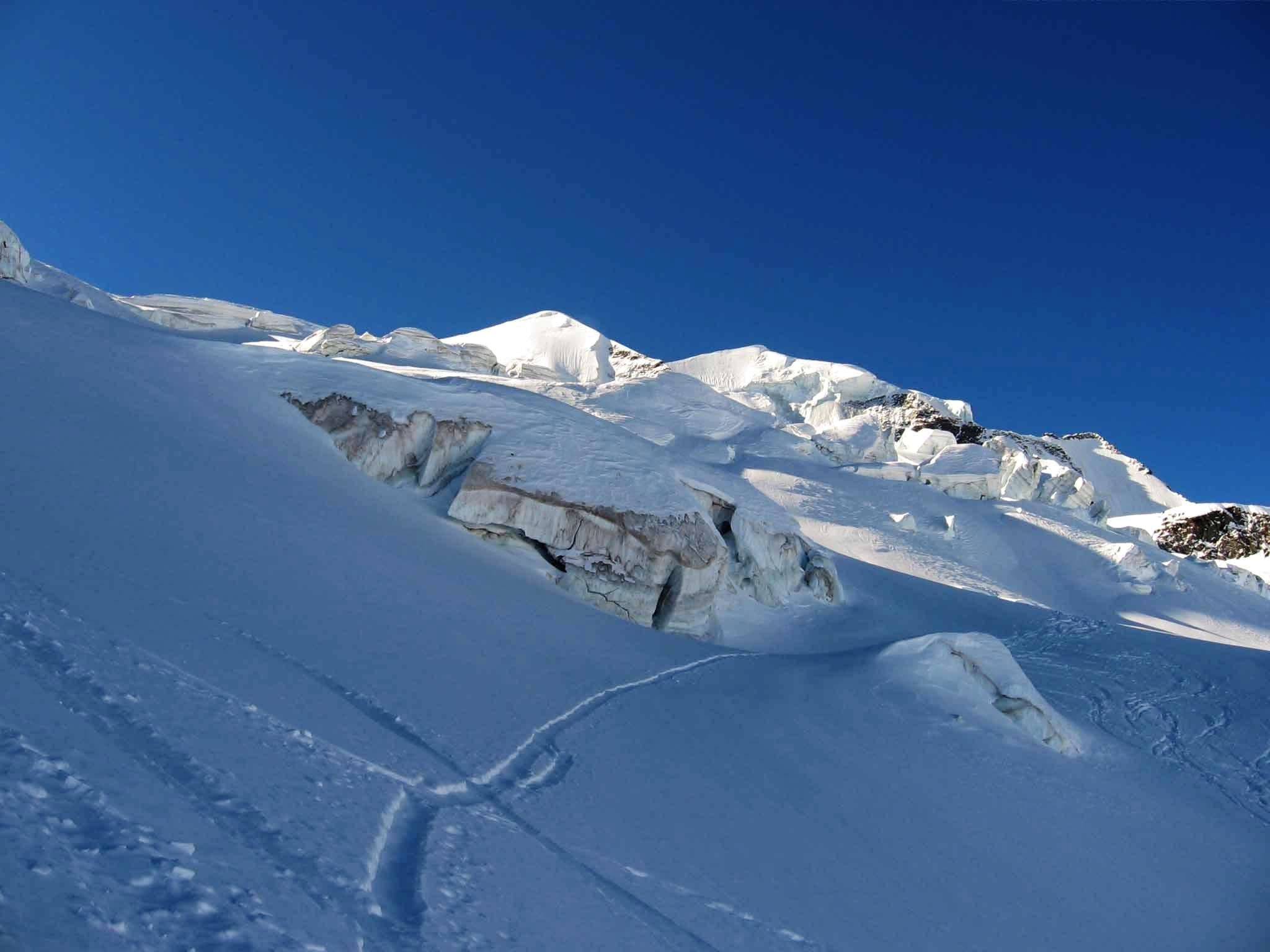 Ski route from Diavolezza